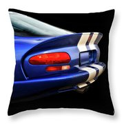 1995 Dodge Viper Coupe 'tail' Throw Pillow