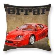 Ferrari F 512m 1995 Throw Pillow