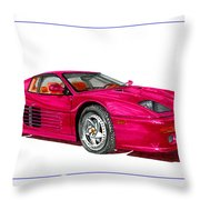 Ferrari F 512 M Russo 1995 Throw Pillow