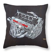 1996 Ferrari F1 V10 Engine Throw Pillow