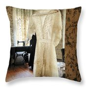 19th Century Wedding Dress Throw Pillow