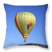 1b6347 Sonoma Thunder Hot Air Balloon Throw Pillow