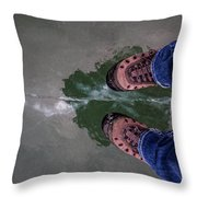 Standing On Thin Ice 2 Throw Pillow