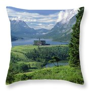 1m3001 Prince Of Wales From Afar Throw Pillow