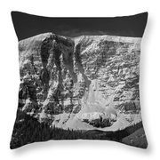 1m3769 Bw East Face Mt Kitchner Throw Pillow
