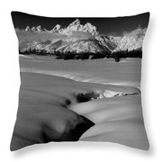1m9303 Bwtetons Seen From Jackson Hole Throw Pillow