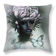 Sensual Beautiful Dahlia Throw Pillow