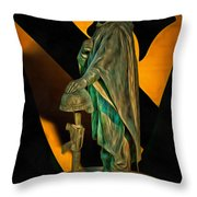 1st Cav History - Respect From Another Trooper To Another - Oil Throw Pillow
