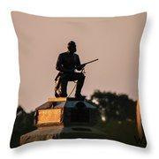 1st Pennsylvania Cavalry Throw Pillow