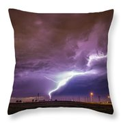 1st Severe Night Tboomers Of 2018 015 Throw Pillow