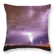 1st Severe Night Tboomers Of 2018 016 Throw Pillow