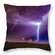 1st Severe Night Tboomers Of 2018 017 Throw Pillow
