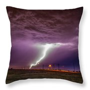 1st Severe Night Tboomers Of 2018 018 Throw Pillow