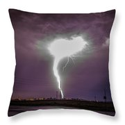 1st Severe Night Tboomers Of 2018 020 Throw Pillow