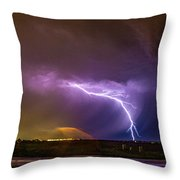 1st Severe Night Tboomers Of 2018 022 Throw Pillow