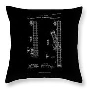 1875 Electric Railway Signal Patent Drawing Throw Pillow