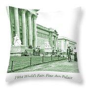 1904 World's Fair, Fine Arts Palace Throw Pillow