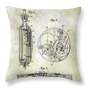 1913 Pocket Watch Patent Throw Pillow