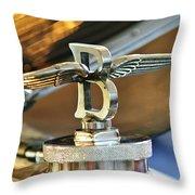 1927 Bentley 6.5 Litre Sports Tourer Hood Ornament Throw Pillow