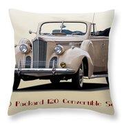 1940 Packard 120 Convertible Sedan Throw Pillow