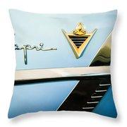 1953 Lincoln Capri Emblem Throw Pillow