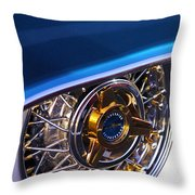 1957 Ford Thunderbird Wheel Throw Pillow