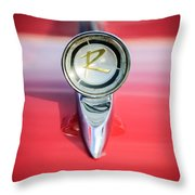 1961 Rambler Hood Ornament Throw Pillow