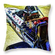 1966 Gearhardt Rear Engine V8 Throw Pillow