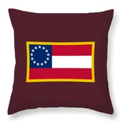 1st Confederate Flag Throw Pillow
