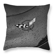 2002 Corvette Ls1 Painted Bw Throw Pillow