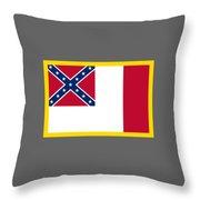 3d Confederate Flag Throw Pillow