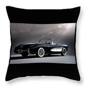 '56 Corvette Convertible Throw Pillow
