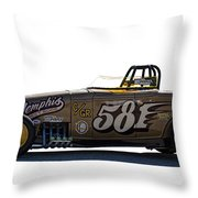 581 Bonneville Race Car Throw Pillow