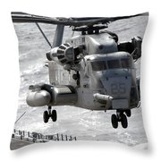 A Ch-53e Super Stallion Helicopter Throw Pillow
