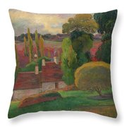 A Farm In Brittany Throw Pillow