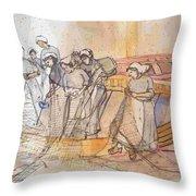 A Netherlands Handscroll Throw Pillow