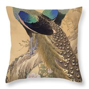 A Pair Of Peacocks In Spring Throw Pillow