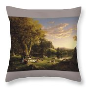 A Pic Nic Party Throw Pillow