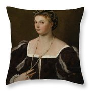 A Portrait Of A Lady Throw Pillow
