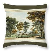 A Scene In The Garden At Brandsbury Throw Pillow