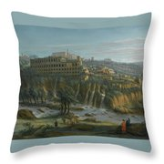 A View Of The Waterfalls And The Villa Of Maecenas Throw Pillow