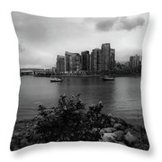 A View Of Vancouver Throw Pillow