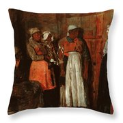 A Visit From The Old Mistress Throw Pillow