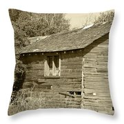 Abandoned Barn Falling To Ruin Throw Pillow