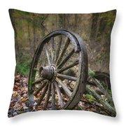 Abandoned Wagon Throw Pillow