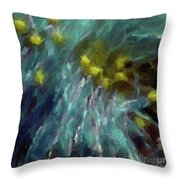 Abstract 92 Digital Oil Painting On Canvas Full Of Texture And Brig Throw Pillow