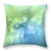 Abstract Blue Green Circles 3 Throw Pillow