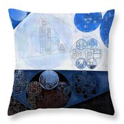 Abstract Painting - Lochmara Throw Pillow