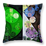Abstract Painting - Swirl Throw Pillow
