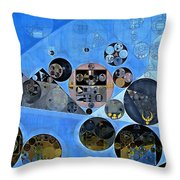 Abstract Painting - Tufts Blue Throw Pillow